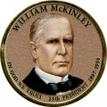 1 Dollar 2013 USA, 25. Präsident William McKinley, farbig