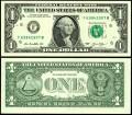 1 доллар 2013 США (F), банкнота, хорошее качество XF