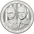1 доллар 2013 США Пятизвездочные генералы Маршалл и Эйзенхауэр, серебро Proof
