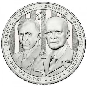 1 dollar 2013 USA 5-Star Generals Marshall, Eisenhower,  UNC