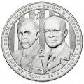 1 доллар 2013 США Пятизвездочные генералы Маршалл и Эйзенхауэр, серебро UNC