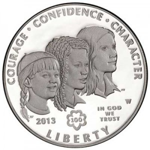 1 dollar 2013 USA Girl Scouts,  proof