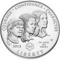 1 доллар 2013 США Девочки скауты, серебро UNC