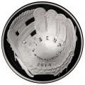 1 dollar 2014 USA Baseball Hall of Fame Silber Proof