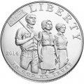 1 dollar 2014 USA Civil Rights Act of 1964, silver UNC