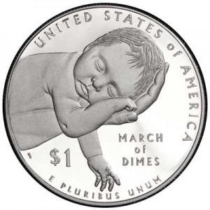 1 dollar 2015 USA March of Dimes,  Proof