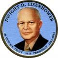 1 доллар 2015 США, 34-й президент Дуайт Д. Эйзенхауэр (цветная)