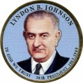 1 Dollar 2015 USA, 36. Präsident Lyndon B. Johnson (farbig)