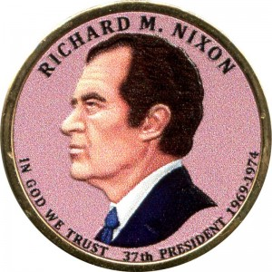 1 dollar 2016 USA, 37th President Richard M. Nixon (colorized)