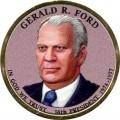 1 доллар 2016 США, 38-й президент Джеральд Форд (цветная)