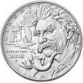 1 доллар 2016 США, Марк Твен, серебро UNC