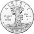 1 доллар 2016 США, Служба национальных парков,  Proof