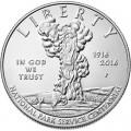 1 доллар 2016 США, Служба национальных парков,  UNC