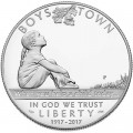 1 dollar 2017 USA Boys Town Centennial Proof  Dollar