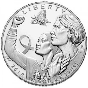 1 dollar 2018 USA Breast Cancer Awareness Proof  Dollar