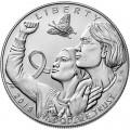 1 доллар 2018 США, Осведомленность о раке молочной железы, серебро UNC
