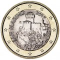 1 евро 2017 Сан-Марино, новый дизайн UNC