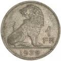 1 франк 1939 Бельгия, из обращения