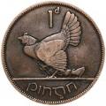 1 пенни 1928 Ирландия Тетерев