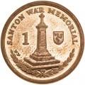 1 пенни 2008 Остров Мэн Военный мемориал в Сантоне