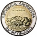 1 peso 2010, Argentina, May Revolution, Aconcagua