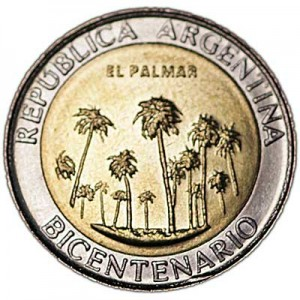 1 peso 2010 Argentina, May Revolution, El Palmar National Park