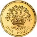 1 фунт 1991 Великобритания Лён и королевская диадема, символизирующие Северную Ирландию из обращения