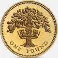 1 фунт 1992 Дуб и королевская диадема Англии из обращения