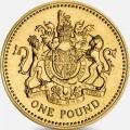 1 фунт 1993 Англия, Герб Королевства Англии из обращения