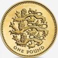 1 фунт 1997 Три льва, Англия из обращения