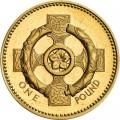 1 фунт 2001 Великобритания Кельтский крест, первоцвет и торквес, символизирующие Северную Ирландию