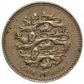 1 фунт 2002 Три льва, Англия из обращения