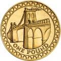 1 фунт 2005 Англия, Висячий мост через Менай из обращения