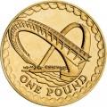 1 фунт 2007 Великобритания Мост тысячелетия в Гейтсхеде из обращения