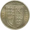 1 фунт 2008 Королевский Щит, представляющий Соединенное Королевство из обращения