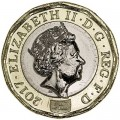 1 фунт 2017 Великобритания, 12-угольник