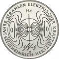 """10 евро 2013 Германия 125 лет работе """"О лучах электрической силы"""" Г.Герца, G"""