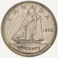 10 центов 1978 Канада, из обращения