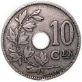 10 сантимов 1901-1909 Бельгия, из обращения