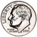 One dime 10 cents 2005 US Roosevelt, mint D