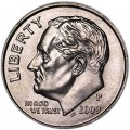 One dime 10 cents 2009 US Roosevelt, mint P