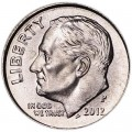 One dime 10 cents 2012 US Roosevelt, mint P