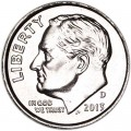 One dime 10 cents 2013 US Roosevelt, mint D