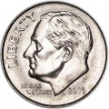 One dime 10 cents 2015 US Roosevelt, mint P