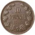 10 penni 1916 Finland, VF