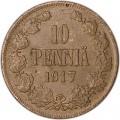 10 penni 1917 Finland eagle, VF