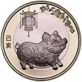 10 юаней 2019 Китай, Год свиньи