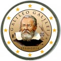 2 euro 2014 Italy. Galileo Galilei (colorized)