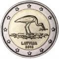 2 евро 2015 Латвия, Аист