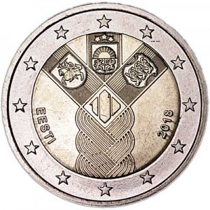 2 euro 2018 Estonia, 100 years of independence